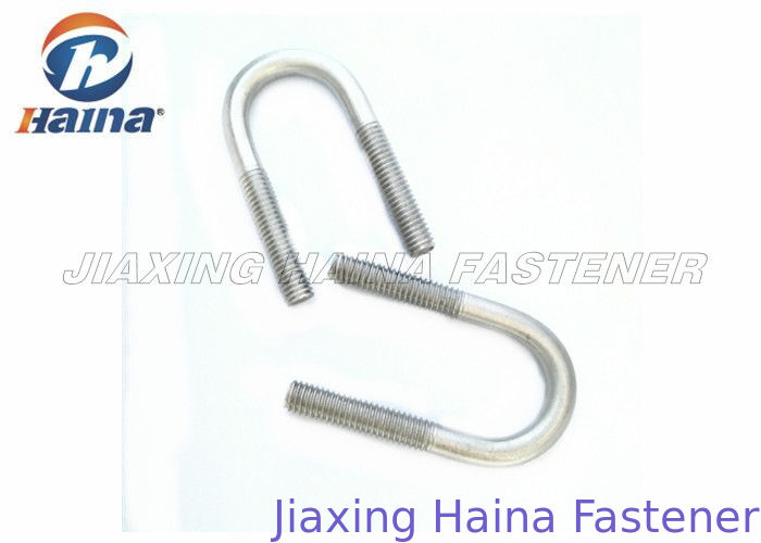 304 316 Stainless Steel U Bolts Combined With Nut And Thread Ends For Machinery