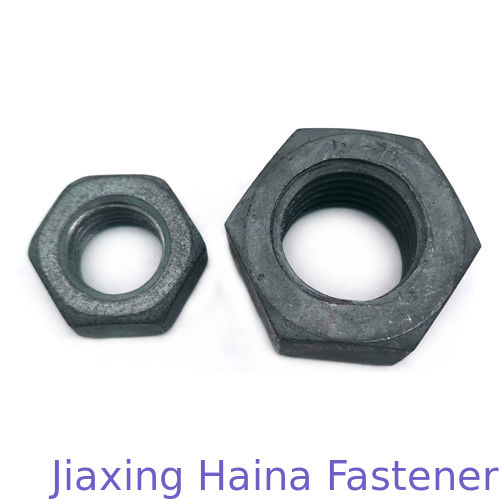 DIN934/439 ASTM A194/563 carbon steel Hot dip galvanized / HDG Hex Nuts For electric tower