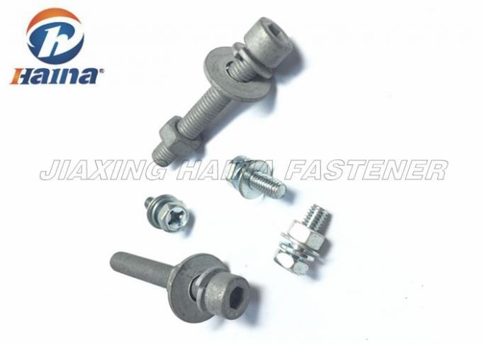Hex Head Combination Stainless Steel Machine Screws With Washer / Spring Washer